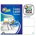 Poliestere adesivo lp4p bianco 70fg A4 210x148mm (2et/fg) laser tico