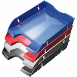 Vaschetta portacorrispondenza - plastica riciclata - 35,5x27,5x6,6 cm - blu - Helit
