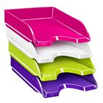 Vaschetta portacorrispondenza CepPro Gloss - 34,8x25,7x6,6 cm - rosa pepsi - Cep