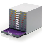 Cassettiera Varicolor® - 28x35,6x29,2 cm - 10 cassetti - Durable