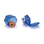 Temperamatite con contenitore - 3 fori - con serbatoio - rosa, arancio, blu, verde, giallo - Giotto