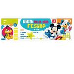 Blocchetto invito alla festa Mickey Disney - Sadoch - conf. 10 inviti