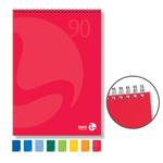 Blocco notes Color - spiralato lato corto - 5mm - 150 x 210mm - 90gr - 50 fogli - BM