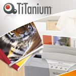 Cartelline termiche Grain - 3 mm - bianco - Titanium - scatola 50 pezzi
