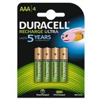 Pile ricaricabili Mini Stilo AAA - Precharged - 800mah - Duracell - blister 4 pezzi