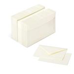Scatola 100 cartoncini (200gr) + 100 buste (90gr) - avorio - formato 9 - Favini