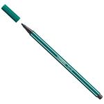 Pennarello Pen 68 punta feltro - tratto 1,00mm - verde turchese - Stabilo - conf. 10 pezzi