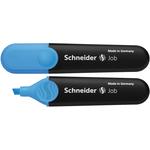 Evidenziatore Job - punta a scalpello - tratto da 1,0-5,0mm - colore azzurro - Schneider