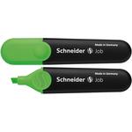 Evidenziatore Job - punta a scalpello - tratto da 1,0-5,0mm - colore verde - Schneider