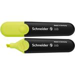 Evidenziatore Job - punta a scalpello - tratto da 1,0-5,0mm - colore giallo - Schneider