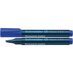 Marcatore Maxx 133 - blu - inchiostro permanente - punta a scalpello da 1,0 a 4,0mm - Schneider
