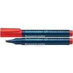 Marcatore permanente Maxx 133 - punta a scalpello -  tratto 1,00-4,00mm - rosso - Schneider