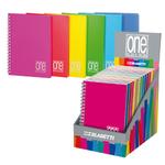 Miniquaderno One Color - 120x170mm - 1rigo - spiralati - copertina ppl - Blasetti