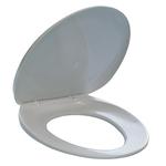 Sedile per WC - universale - PPL - distanza fori da 8,5 a 17,5 cm - bianco - Durable