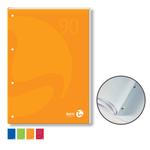 Blocco notes BM90 - A4 - collato lato lungo - quadretti 4mm - 50fg - 90gr - 4fori - copertina 250gr - BM