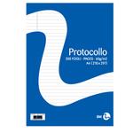 Fogli protocollo - formato A4 - 1 rigo - 60 gr - BM - Conf. 20 fogli