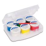 Colori a dita - 100gr - c/pennello - Primo - Conf. 6 colori in valigetta