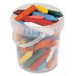 Secchiello pastelli cera jumbo - 12 colori - 65mm - ø13,5mm - Primo Conf. 60 pezzi