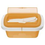 Contenitore Snack Box - 21x15x7,5 cm -Take Away - PPL - blu trasparente - Rotho