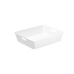 Vassoio multiuso Living Box - 26.4x21.2 cm - altezza 6 cm - bianco - Rotho