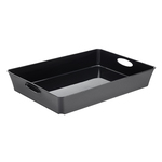 Vassoio multiuso Living Box - 26.4x21.2 cm - altezza 6 cm - nero - Rotho