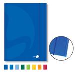 Cartellina Color - 25,5x35cm - 3 lembi - con elastico - colori assortiti - BM