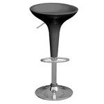 Sgabello bar - ABS/acciaio - 39x45x55/78 cm - nero - Serena Group