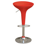 Sgabello bar - ABS/acciaio cromato - 35x45x55/78 cm - rosso - Serena Group
