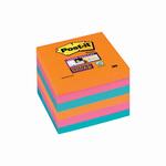 Blocco foglietti Post it® Super Sticky - colore Bangkok - 76 x 76mm - 90 fogli - Post it®