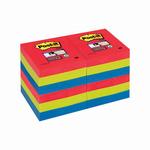 Blocco foglietti Post it® Super Sticky - colore Bora Bora - 47,6 x 47,6mm - 90 fogli - Post it®