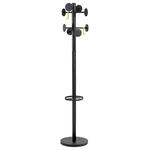 Appendiabiti Stand3 - 8 posti - 175x37 cm - nero - Alba