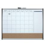 Organizer magnetico con calendario mensile - 58,5x43 cm - Nobo