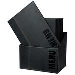 Menu Box Trendy - 20 Portamenù - nero - Securit