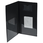 Portaconto Basic - 13x23 cm - PVC - nero - 4+2 buste fisse incluse - Securit