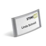 Portanome Classic con clip e spilla - 3,4x7,4 cm - Durable - conf. 10 pezzi
