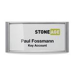 Portanome Classic con magnete - 3,4x7,4 cm - Durable - conf. 10 pezzi
