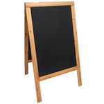 Lavagna Sandwich - cavalletto Teak - 69x125 cm - Securit