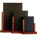 Lavagna da tavolo Elegant - A5 - 20x23x6 cm - mogano - Securit