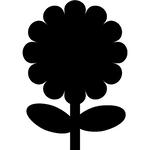 Lavagna da parete \fiore\ silhouette securit