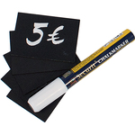 Targhette - 5,2x7,4 cm (A8) - nero - Securit - set 20 pezzi
