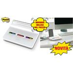 Dispenser Post-it® Index Slim - segnapagina Index Medium e Mini (inclusi) - bianco - Post it®