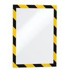 Cornice adesiva Duraframe® Security A4 - pannello magnetico - 21x29.7 cm - giallo/nero - Durable