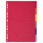 Separatore Forever - 6 tacche - cartoncino riciclato 220 gr - A4 maxi - mutlicolore - Exacompta