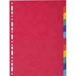 Separatore Forever - 12 tacche - cartoncino riciclato 220 gr - A4 maxi - multicolore - Exacompta