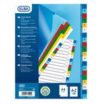 Separatore alfabetico A/Z ELba - tacche colorate - PP - A4 - Favorit