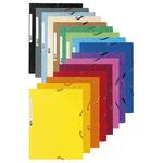 Cartellina con elastico - cartoncino lustrè - 3 lembi - 400 gr - 24x32 cm - blu - Exacompta