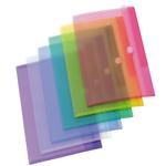 Buste con bottone in velcro - PP - A4 - colori assortiti - Tarifold - set 12 pezzi