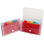 Classificatore Crystal - 6 tasche - PP - 11x18 cm - Exacompta
