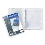 Portalistini personalizzabile Sviluppo - liscio - 15x21 cm - 40 buste - trasparente - Favorit