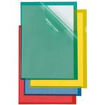 Cartelline a L Poli 150 Color - PPL - buccia - 21x29,7 cm - verde - Sei Rota - conf. 25 pezzi